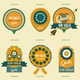 Etiketter på försäljningskvalitetsuppsättning Fotografering för Bildbyråer