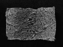 Etiketter på svart bakgrund Arkivfoton