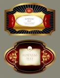 Etiketter tings royaltyfri illustrationer