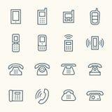 etiketter tre för symbolstelefonset vektor illustrationer