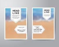 Etikettieren Sie und verwischen Sie Hintergrundbroschürenflieger-Entwurfschablone herein lizenzfreie abbildung