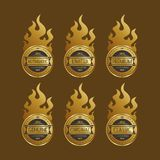 Etikettklistermärke Royaltyfri Bild