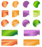 Etikettklistermärkear stock illustrationer