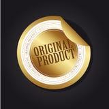 etikettoriginalprodukt Royaltyfri Bild