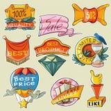 Etikettpris Stock Illustrationer