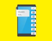 Etikettsärdrag för smartphone royaltyfri illustrationer