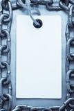Etikettspris på metall Royaltyfria Foton