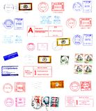 etikettstolpen postmarks stämplar Royaltyfria Foton