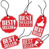 Etikettsuppsättning för bästa säljare, vektorillustration Arkivbild