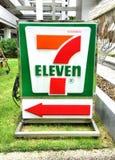 etiketttecken för lager 7-Eleven Royaltyfri Fotografi