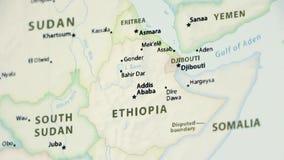 Etiopía en un mapa político con Defocus