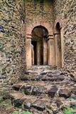 Etiopía: Fortaleza antigua en Gondar Imagen de archivo libre de regalías