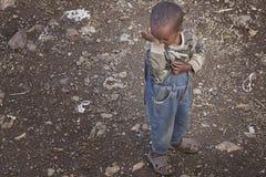 Etiopía: Sensación del niño triste Imagen de archivo