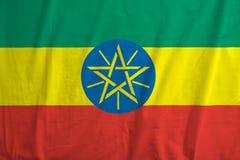 Etiopczyka chorągwiany dmuchanie w wiatrze zdjęcia stock