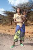 Afrykańska kobieta i dziecko Obraz Royalty Free
