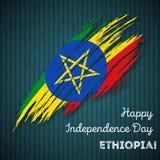 Etiopia dnia niepodległości Patriotyczny projekt Obrazy Royalty Free