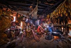 Etiopia, Omo dolina, 17 09 2013 Dimeka wioska Obraz Royalty Free