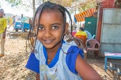 Etiopisk flicka, stående Royaltyfria Bilder