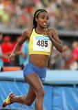 Etiopisk idrottsman nen Genzebe Dibaba Royaltyfri Foto