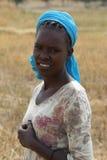 Etiopisk kvinna, Etiopien, Afrika Royaltyfria Bilder