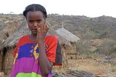 Etiopisk kvinna Fotografering för Bildbyråer