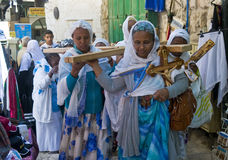 Etiopisk långfredag Arkivfoto