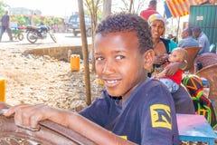 Etiopisk pojkeståendebild Royaltyfri Bild