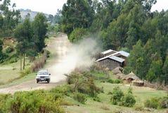 Etiopisk väg Arkivbild