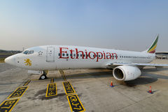 Etiopiska flygbolag Arkivfoto
