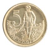 Etiopiskt centmynt Arkivbild