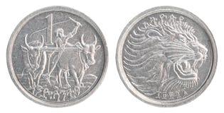 Etiopiskt centmynt Royaltyfri Foto
