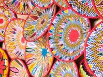 Etiopscy handmade Habesha kosze sprzedawali w Axum, Etiopia Fotografia Royalty Free