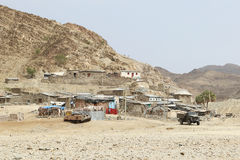 Etiopska wioska w danakil depresji, Africa Fotografia Stock