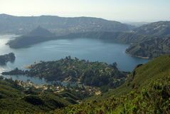Etiopski krateru jezioro Zdjęcia Stock