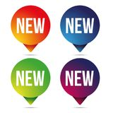 Etiqueta ajustada do botão novo Foto de Stock Royalty Free