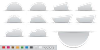 Etiqueta alaranjada geométrica Imagens de Stock