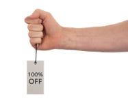 Etiqueta amarrada com corda, preço Imagem de Stock