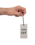 Etiqueta amarrada com corda, preço Imagens de Stock