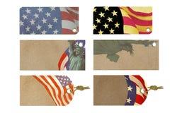 Etiqueta americana da venda da celebração Fotografia de Stock