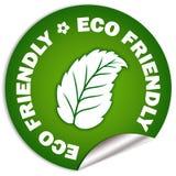 Etiqueta amigável de Eco Imagens de Stock Royalty Free