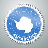 Etiqueta antártica de la bandera ilustración del vector