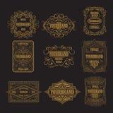 Etiqueta antigua, diseño del marco del vintage, logotipo retro Foto de archivo libre de regalías