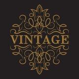 Etiqueta antigua, diseño del marco del vintage stock de ilustración