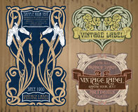 Etiqueta Art Nouveau Foto de archivo libre de regalías
