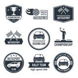 Etiqueta auto del deporte stock de ilustración