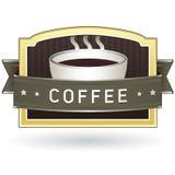 Etiqueta autoadhesiva del producto del café Fotos de archivo libres de regalías