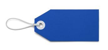 Etiqueta azul fotografía de archivo libre de regalías