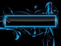 Etiqueta azul Ilustração Stock