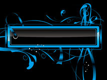 Etiqueta azul Foto de Stock Royalty Free