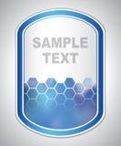 Etiqueta azul abstrata do laboratório Foto de Stock